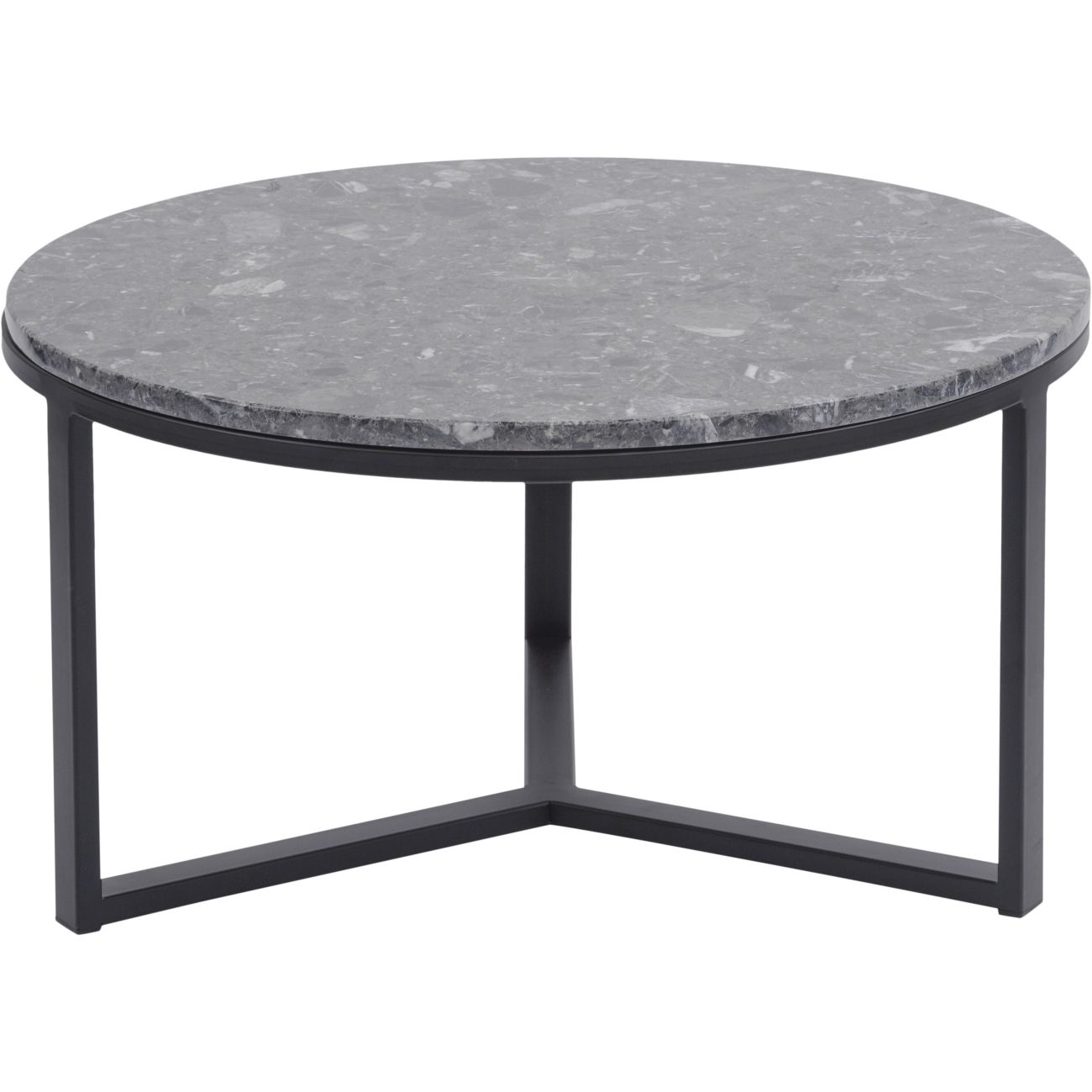 Shoreditch Black Metal and Grey Travisso Coffee Table, Large thumbnail