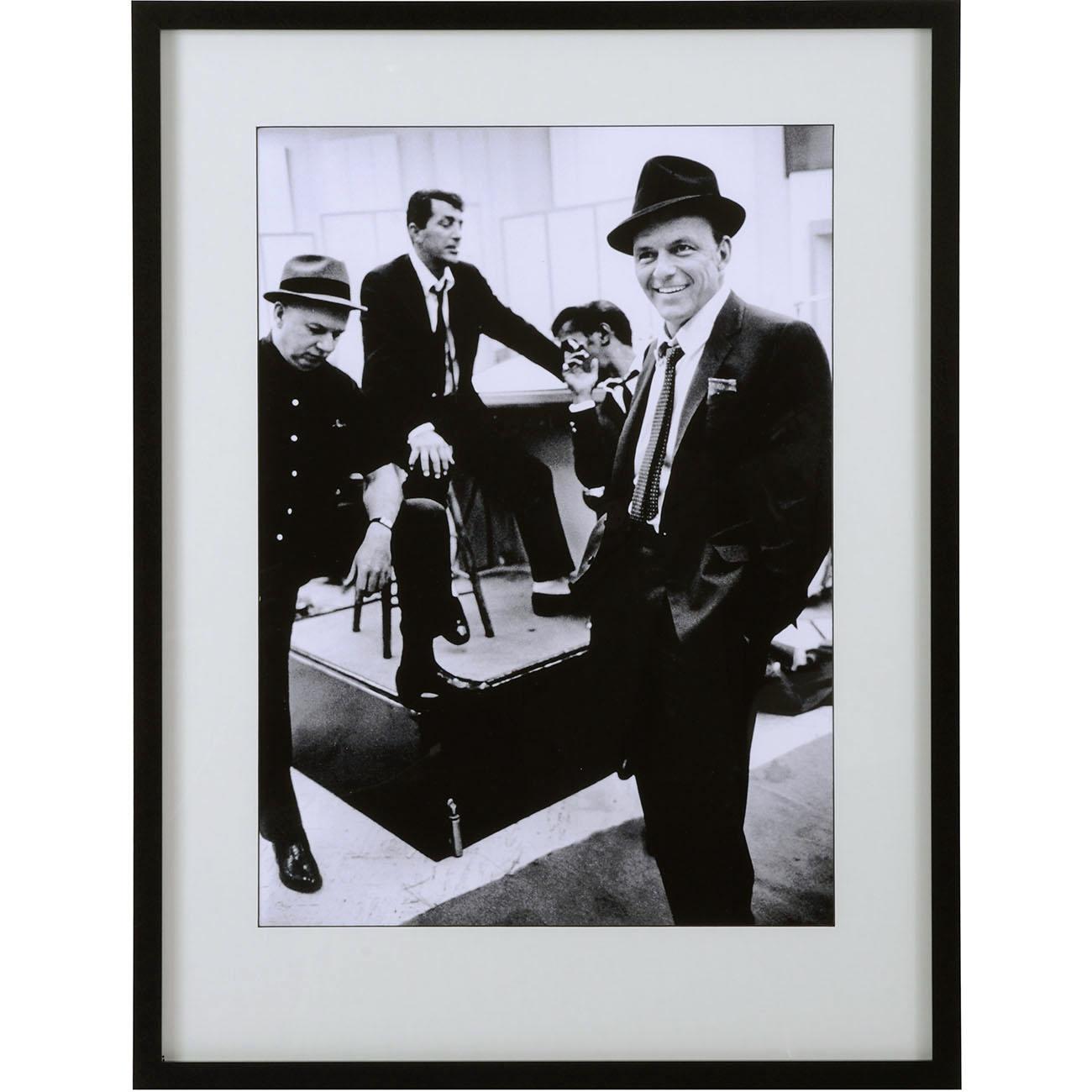 Time Life - Dean Martin, Sammy Davis Jr. and Frank Sinatra Framed Print thumbnail