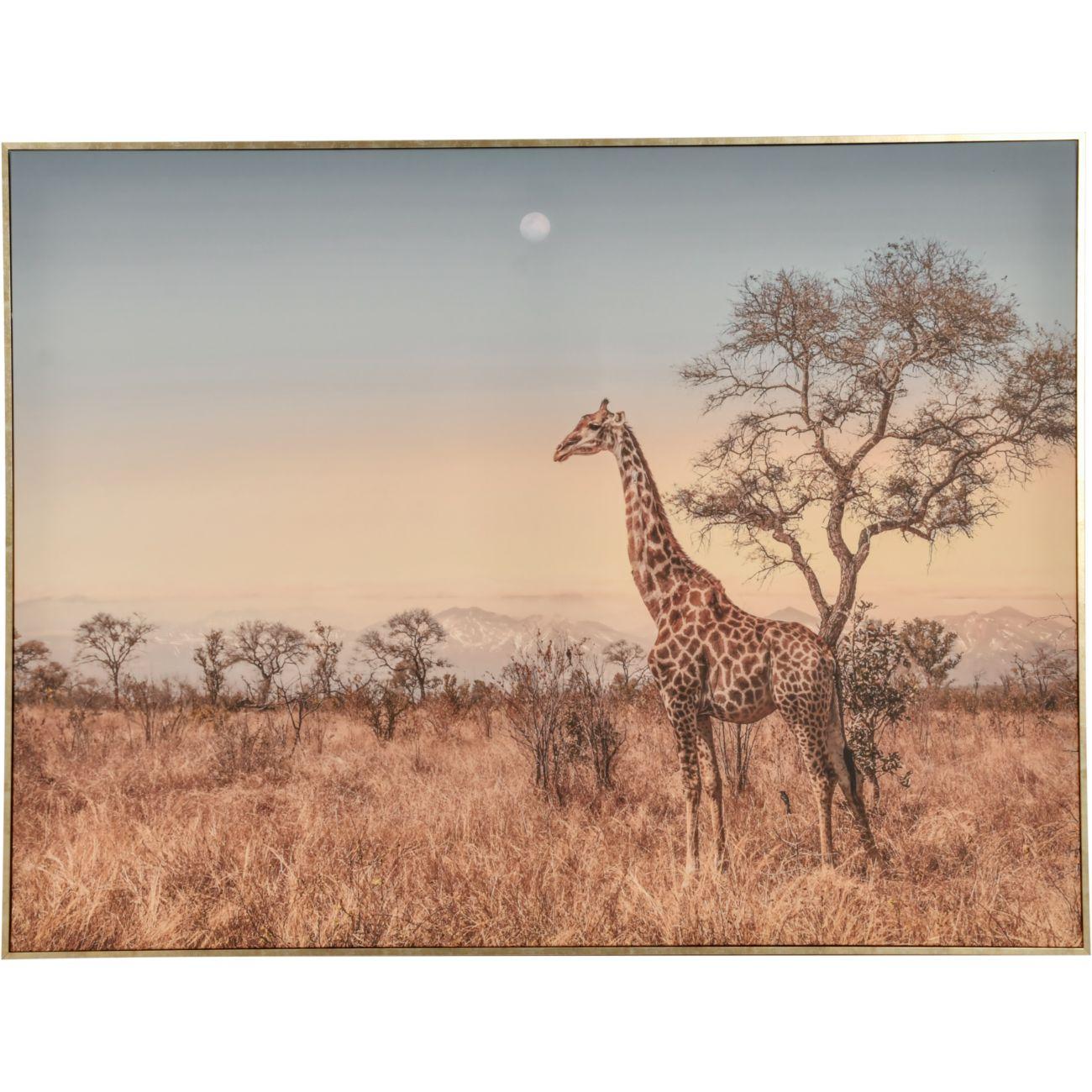Giraffe Framed Canvas Wall Art 80c113cm thumbnail