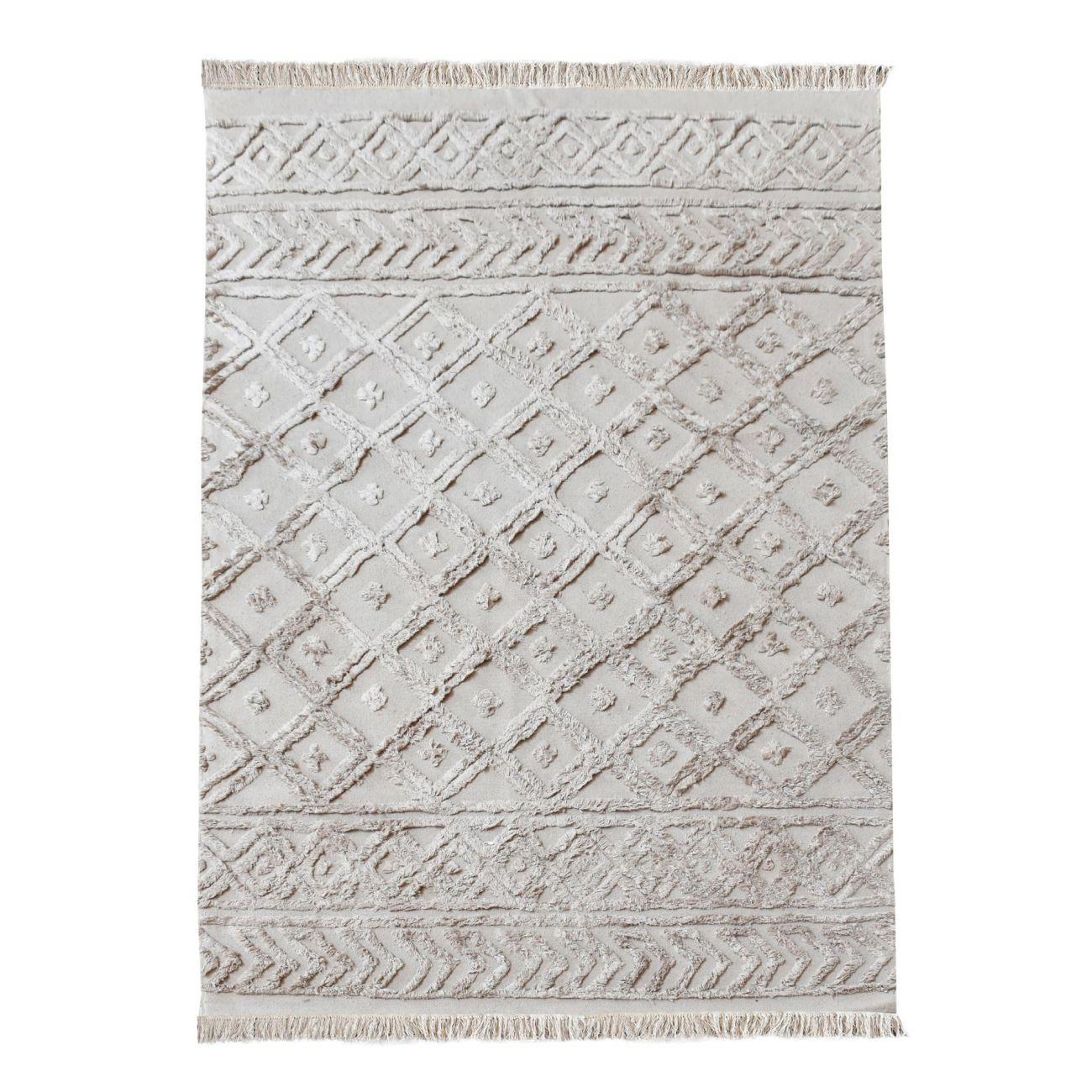 Alphen Table Tufted Beige 160x230cm Cotton Rug thumbnail