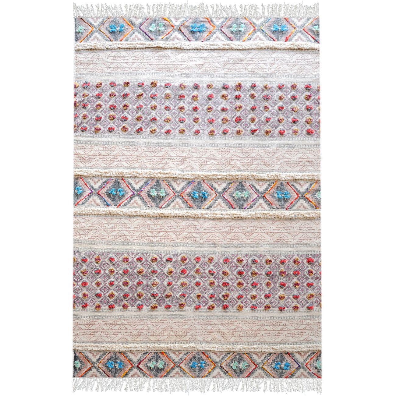 Adono Hand Woven Pit Loom Multi Colour