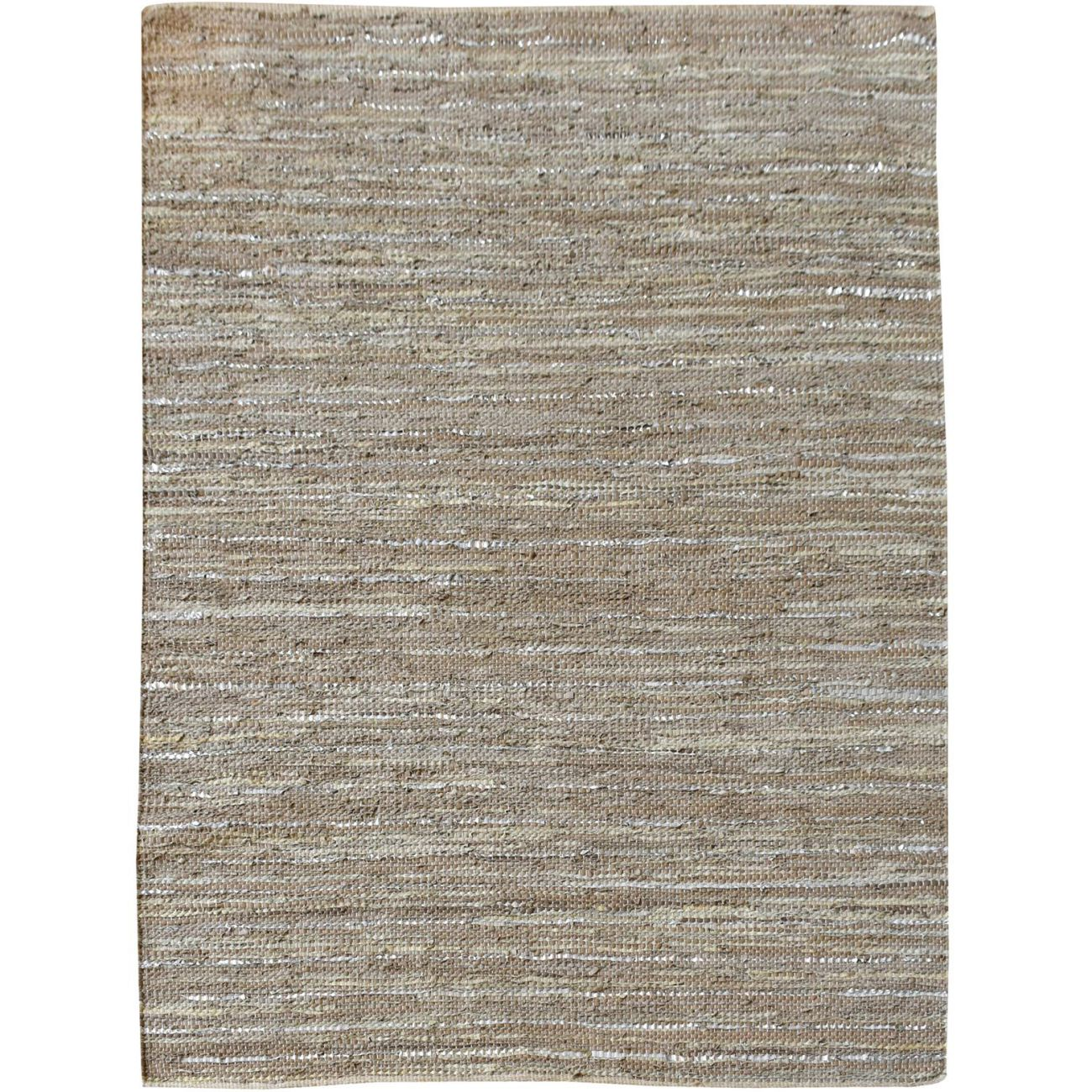 Aure Hand Woven Pit Loom Tan Pattern 160x230cm Leather Rug thumbnail