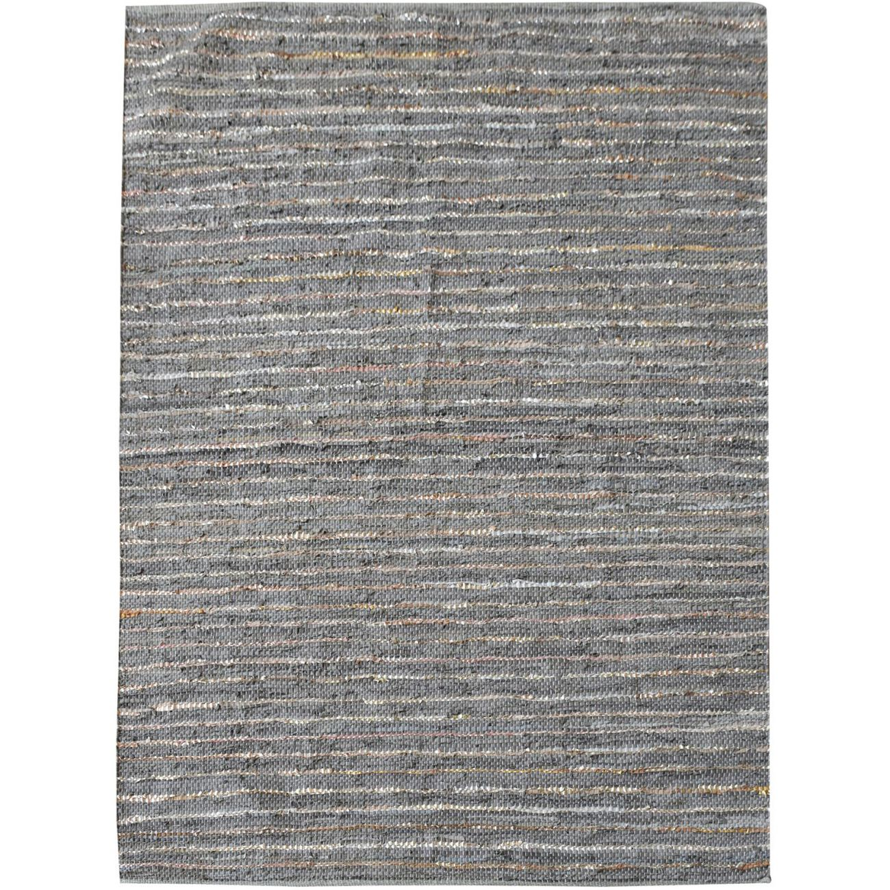 Aure Hand Woven Pit Loom Stone Pattern 160x230cm Leather Rug thumbnail