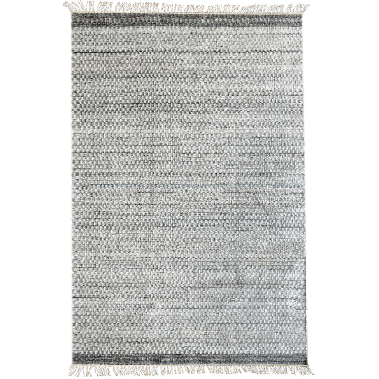 Bibury Hand Woven Pit Loom Ivory Grey & Aqua 160x230cm PET Rug thumbnail