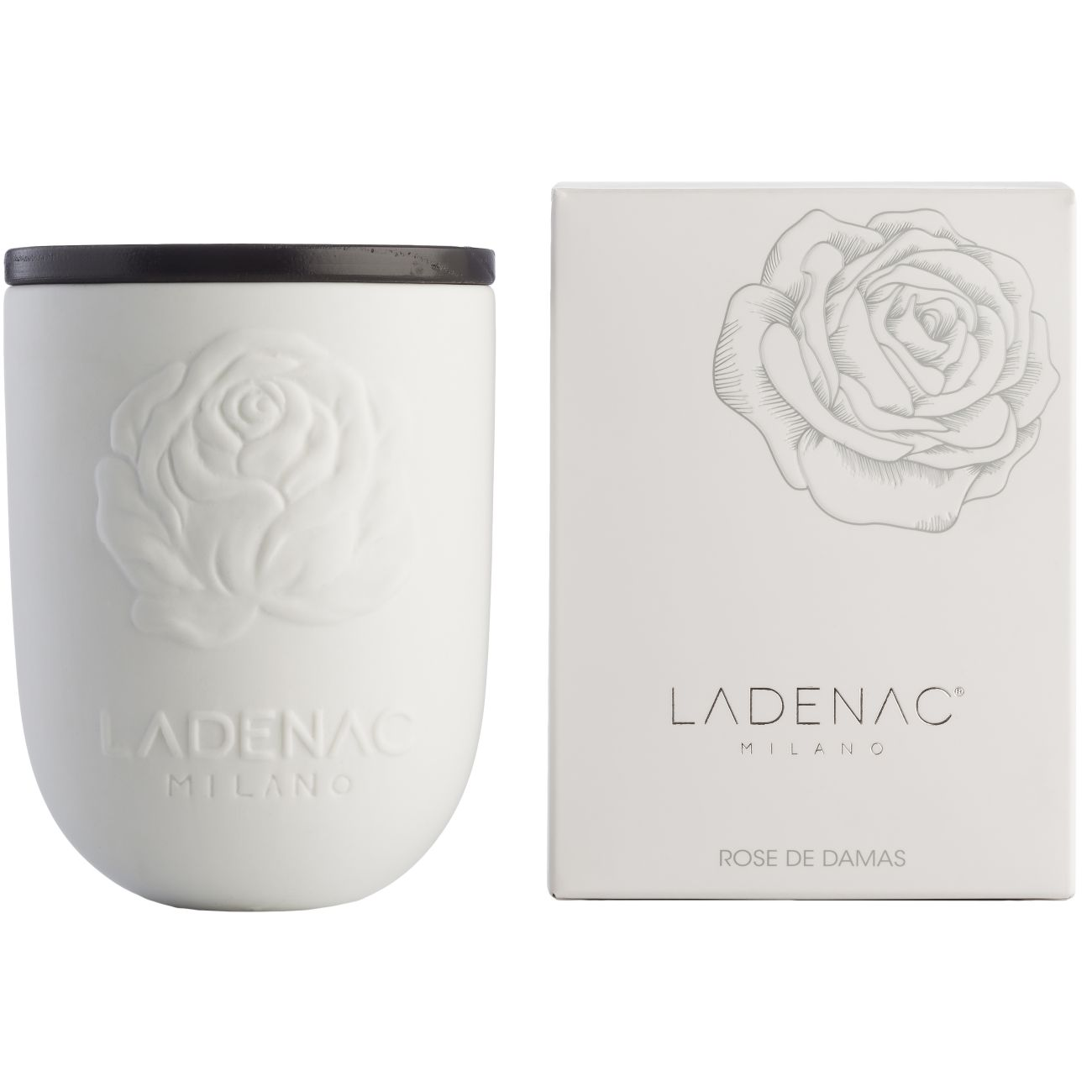 Ladenac Ceramica Scented Candle in 200gr Ceramic Jar - Damask Rose thumbnail