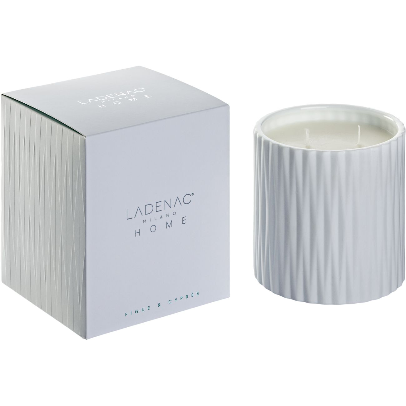 Ladenac Origami Scented Candle in 250gr White Jar - Figue Cypress thumbnail