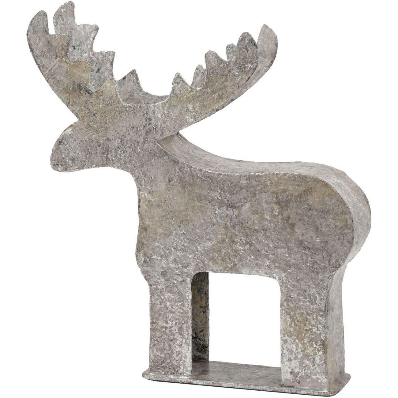 Burnished Bronze Iron Reindeer Large - Xmas thumbnail