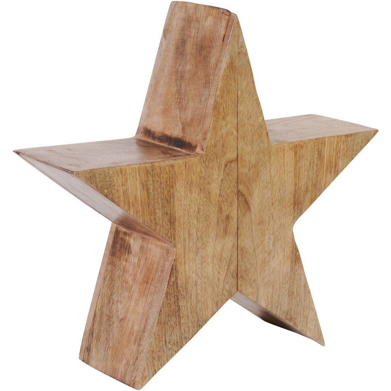 Rustic Wooden Standing Star Small - Xmas thumbnail