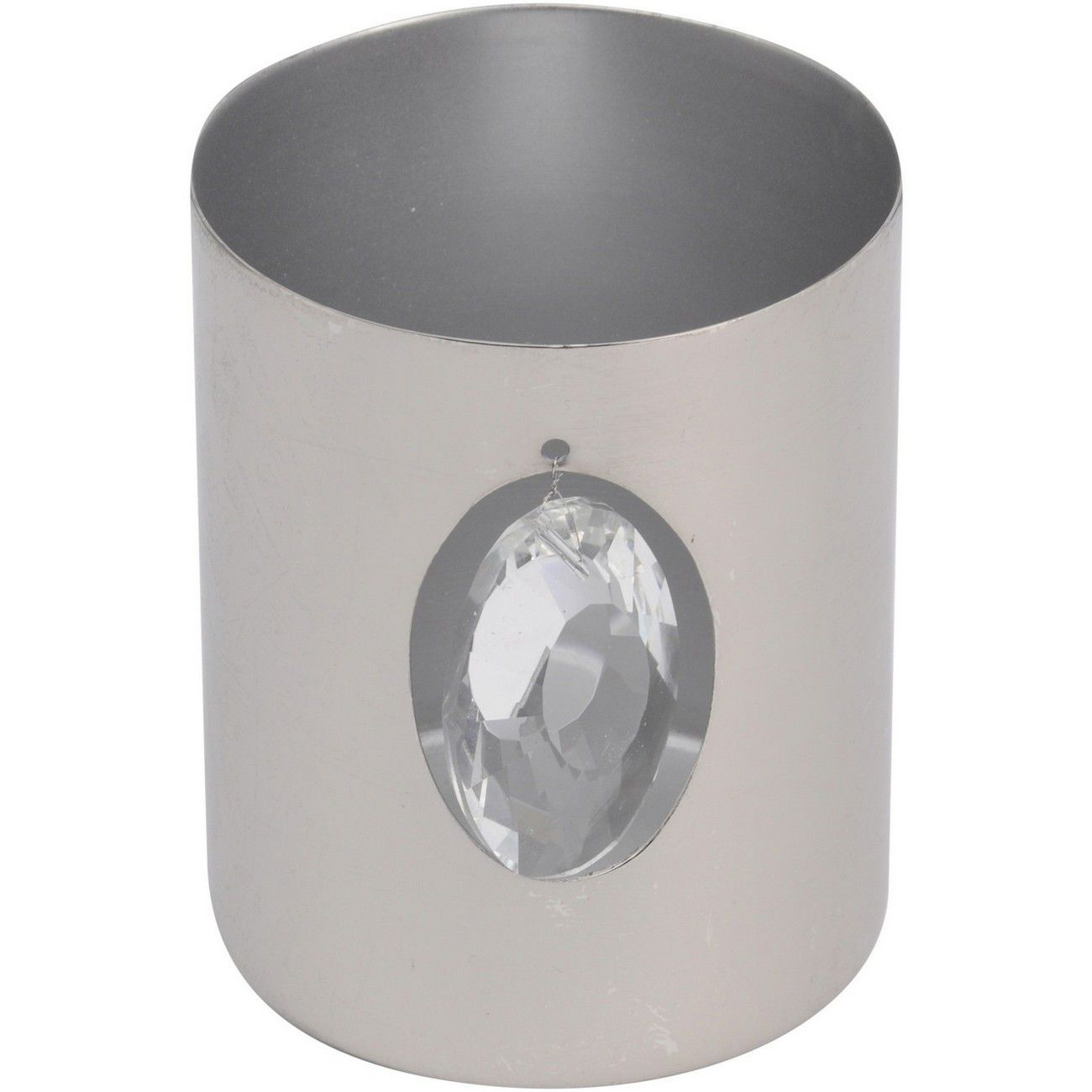 Aluminium Silver Jewel Votive Holder - Xmas thumbnail