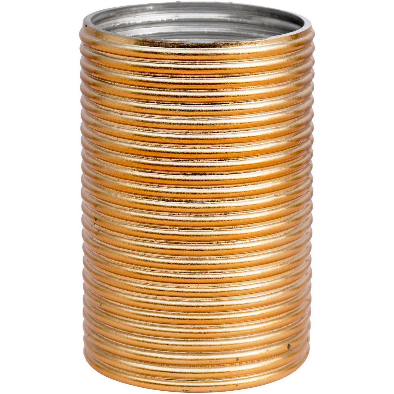 Copper Aluminium Horizontally Ribbed Votive Holder thumbnail