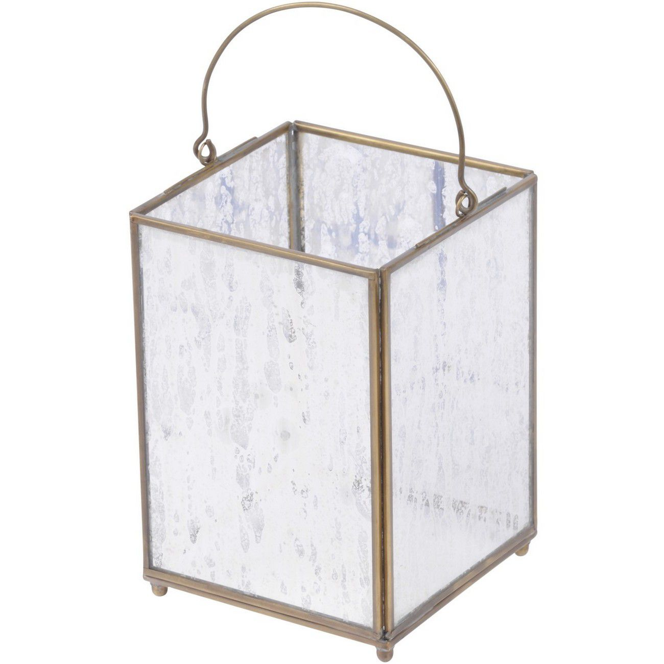 Brass Small Square Lantern - Xmas-18 thumbnail