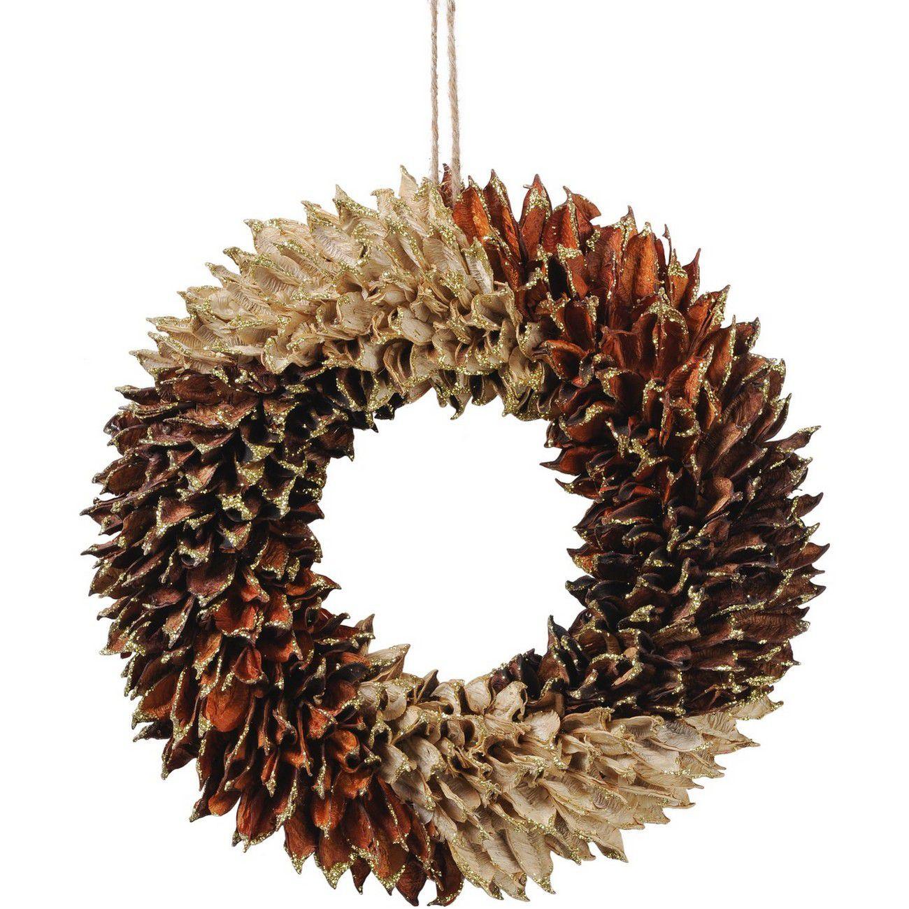 Textured Small Orange Wreath thumbnail