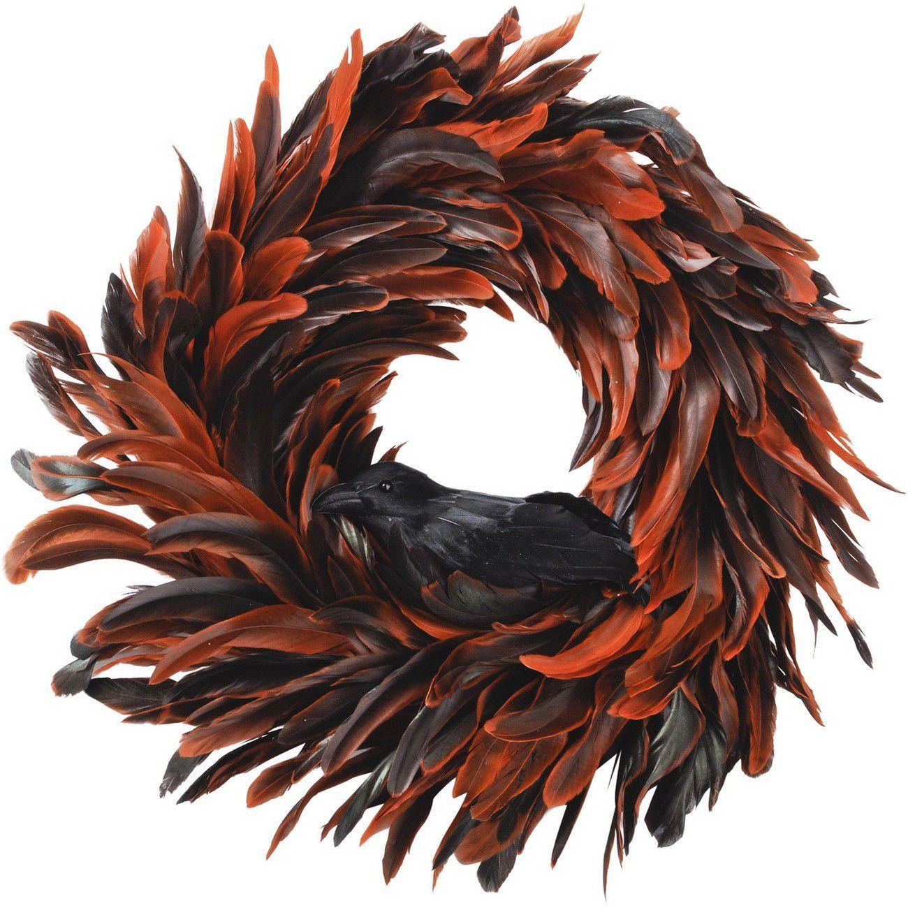 Feather Orange Wreath - Xmas thumbnail