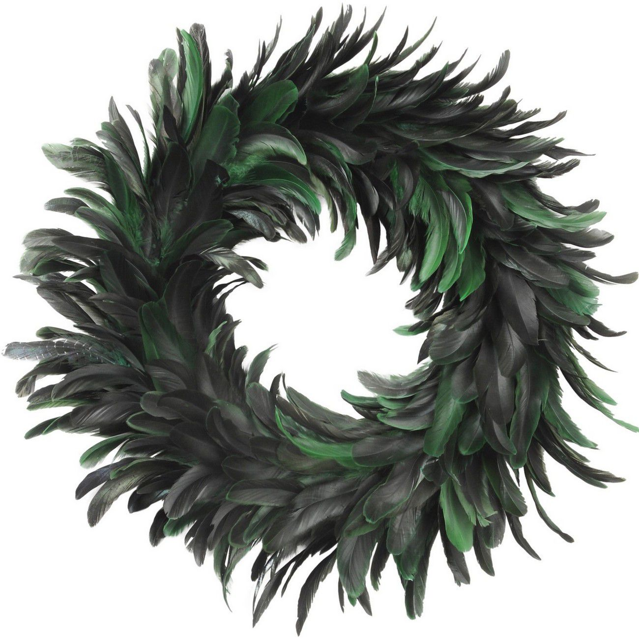 Feather Small Green Wreath - Xmas thumbnail