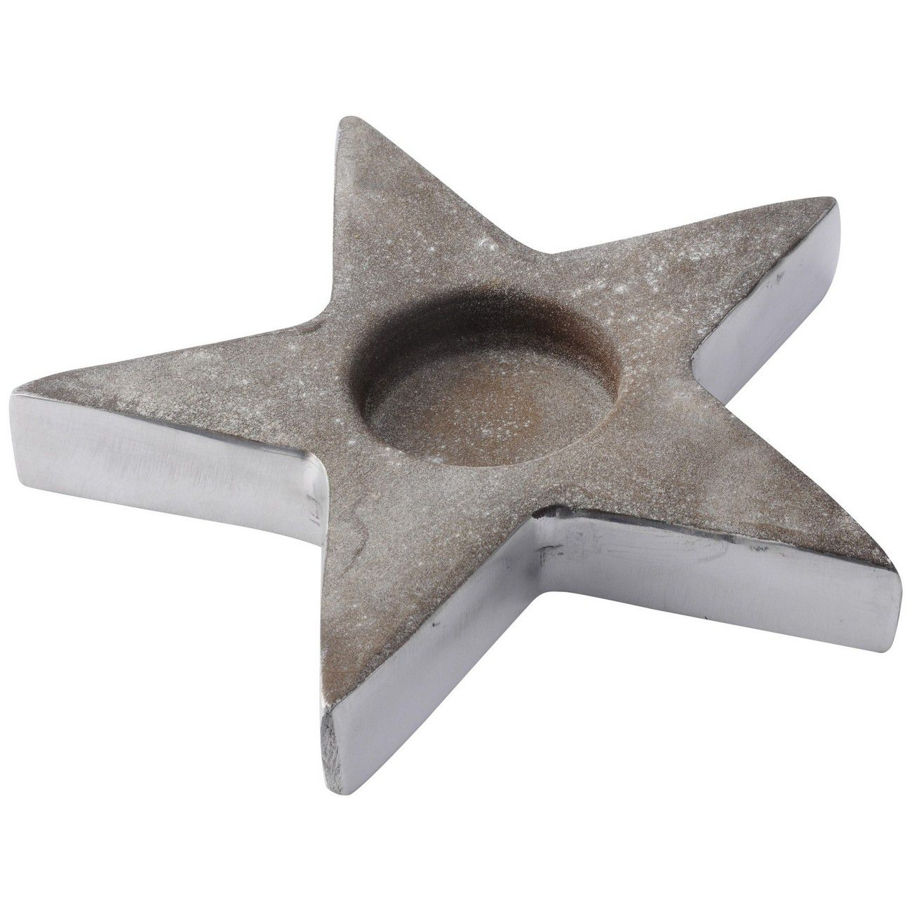 Concrete Textured Large Star Tealight Holder thumbnail