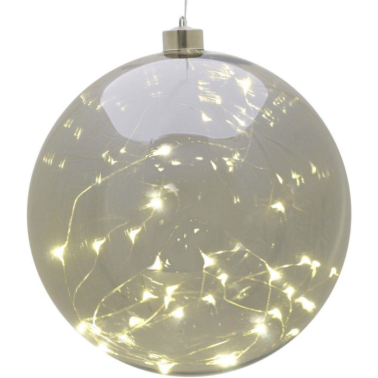 LED Large Smoke Grey Hanging Ball - Xmas thumbnail