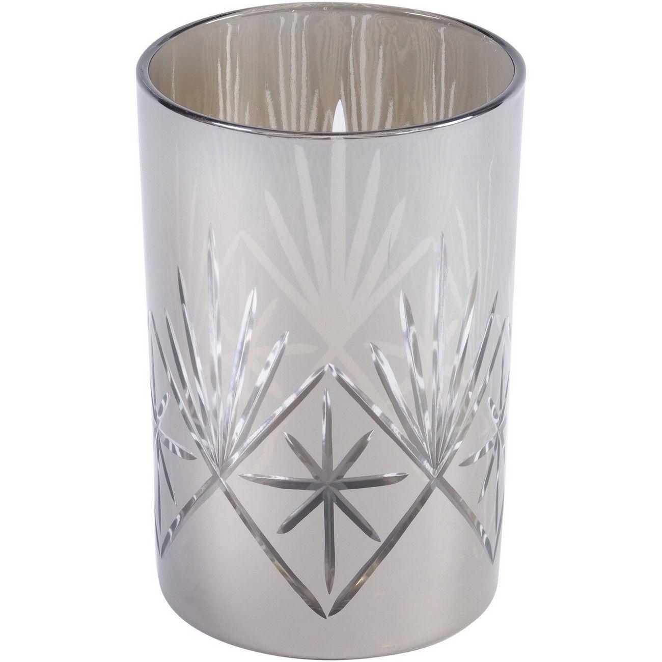 Medium Metallic Silver Cut Hurricane thumbnail