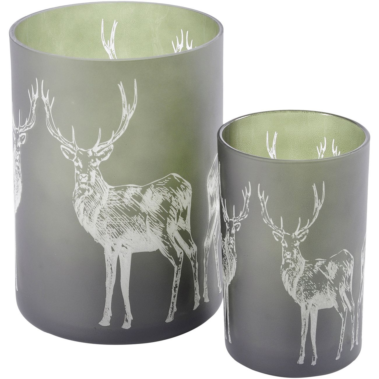 Home Decor Libra Reindeer Frosted Green Large Hurricane Candle Holder Christmas Animal Deer Home Furniture Diy Mhg Co Ke