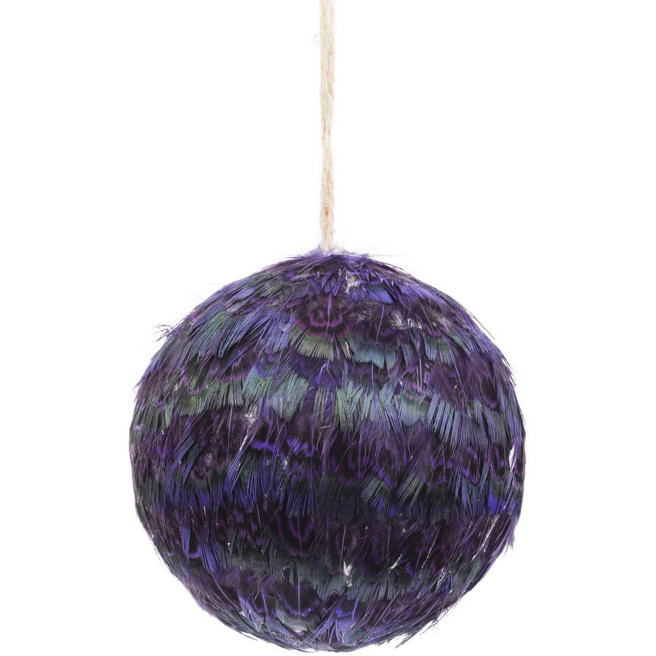 Feather Purple Pheasant Bauble - Xmas thumbnail