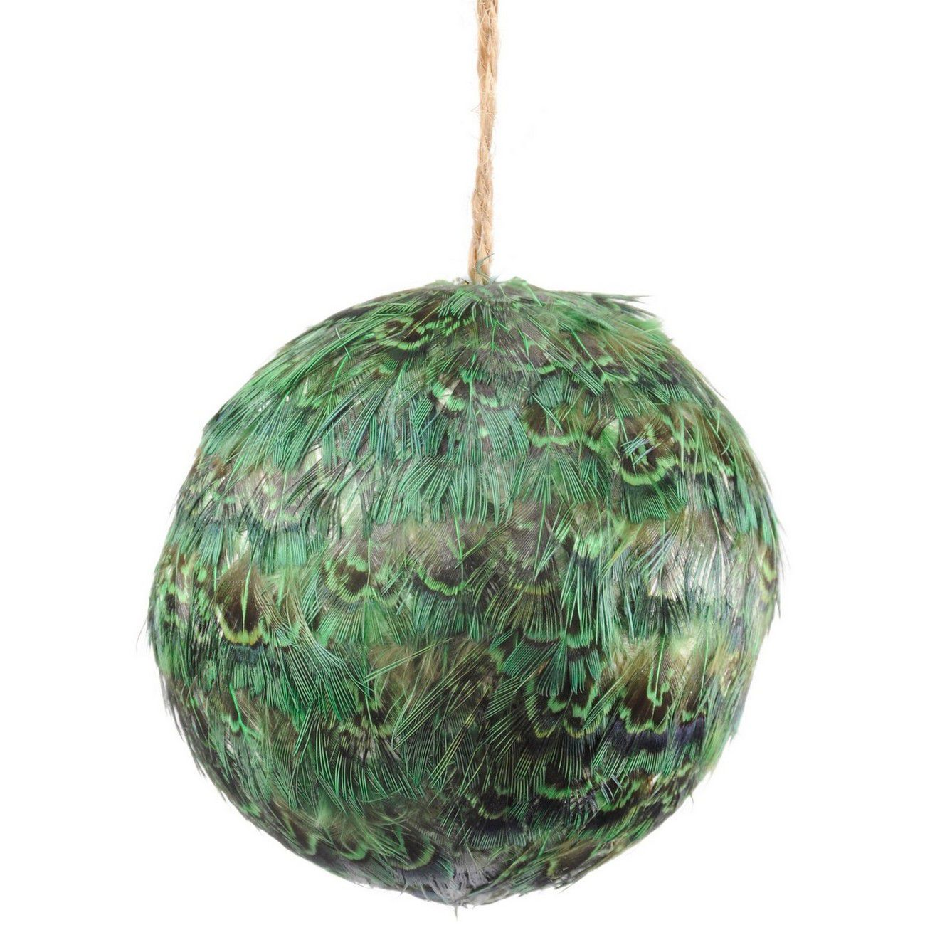 Feather Green Pheasant Bauble - Xmas thumbnail