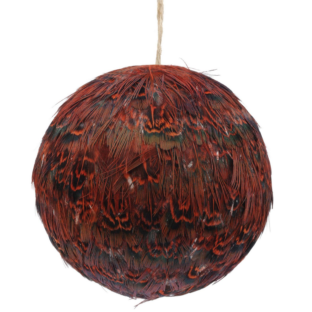 Feather Red Pheasant Bauble - Xmas thumbnail