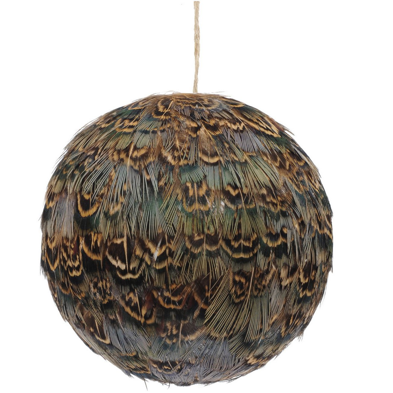 Feather Brown Pheasant Bauble - Xmas thumbnail