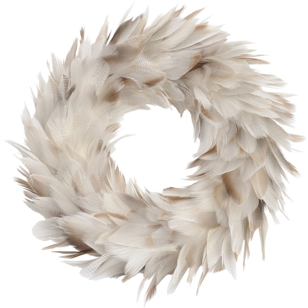 Feather Grey Small Wreath - Xmas thumbnail