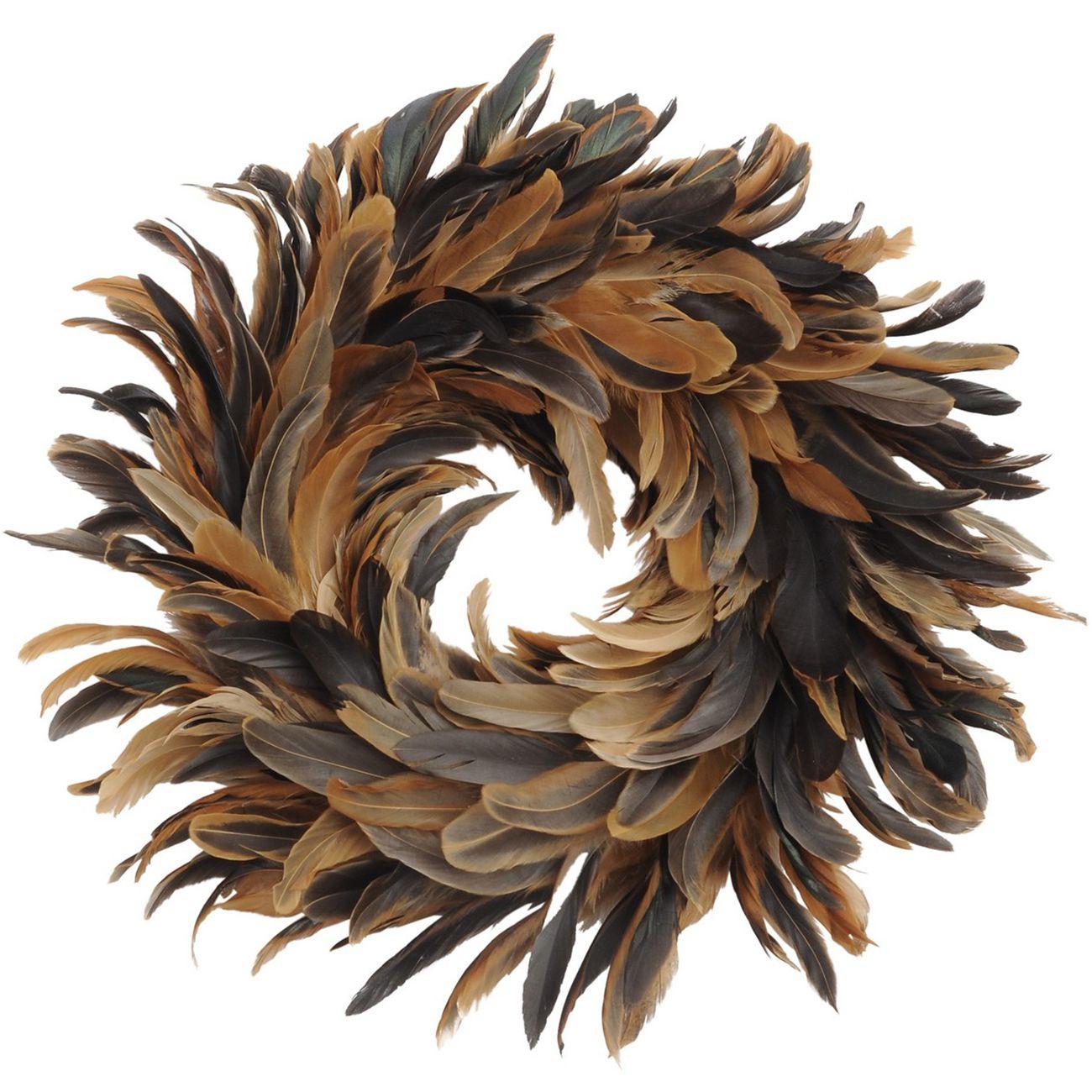 Feather Brown Small Wreath - Xmas thumbnail