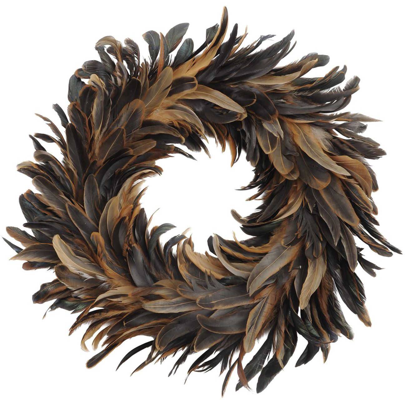 Feather Brown Large Wreath - Xmas thumbnail