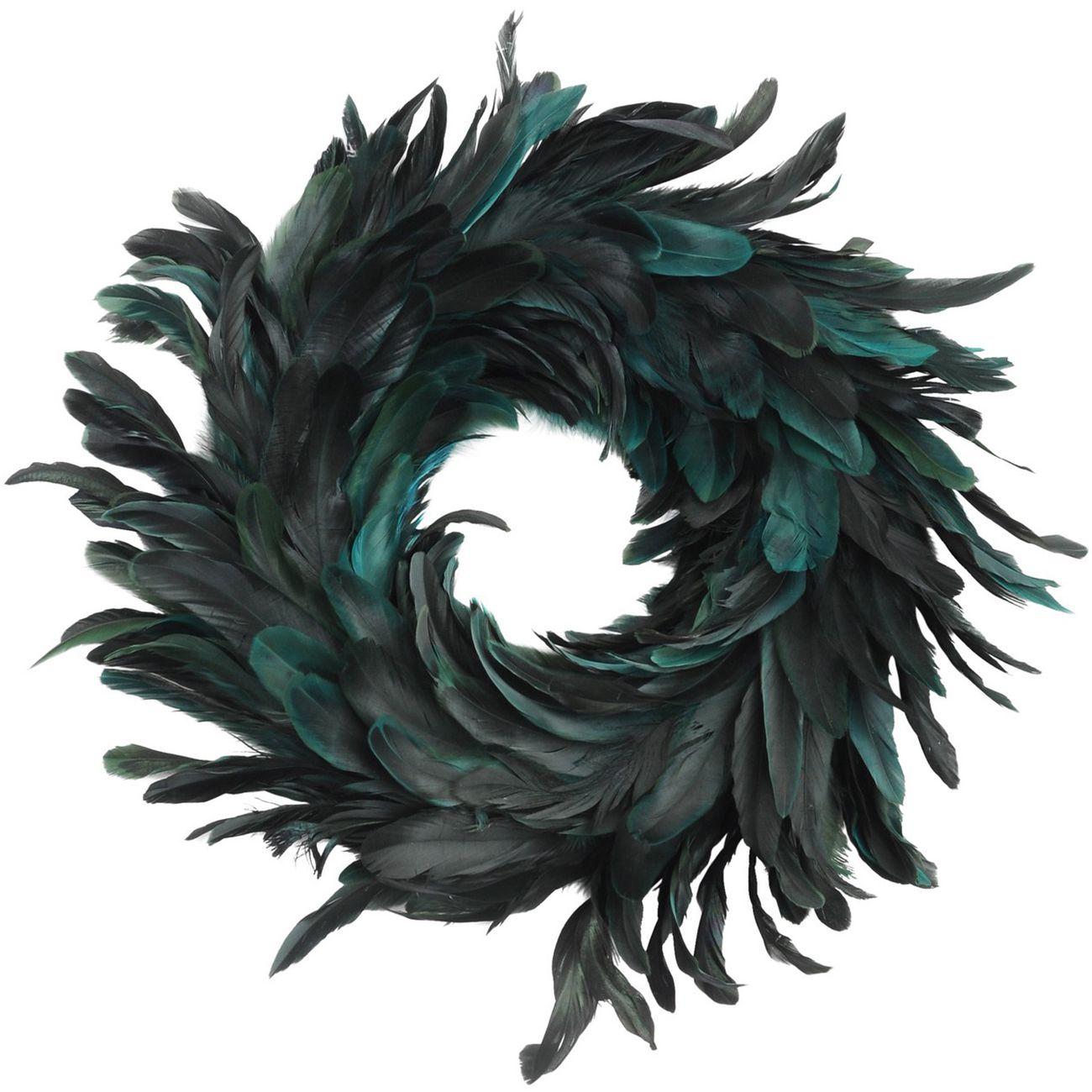 Feather Blue Small Wreath - Xmas thumbnail