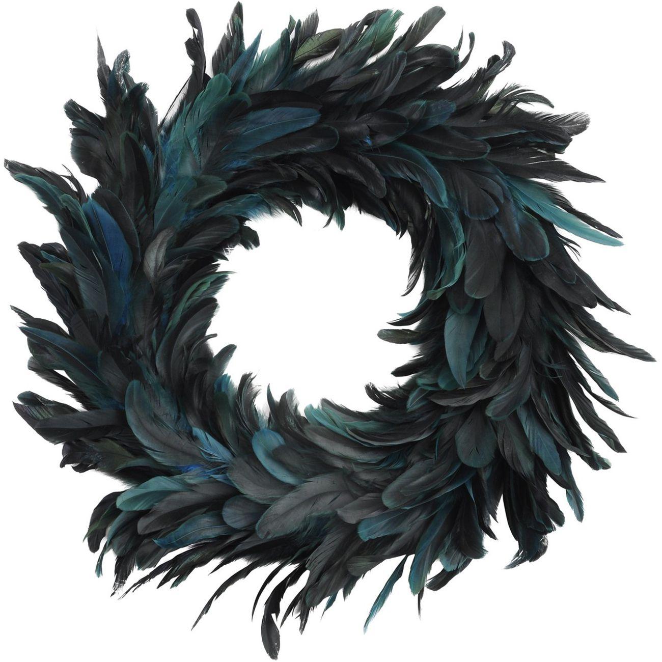 Feather Blue Large Wreath - Xmas thumbnail