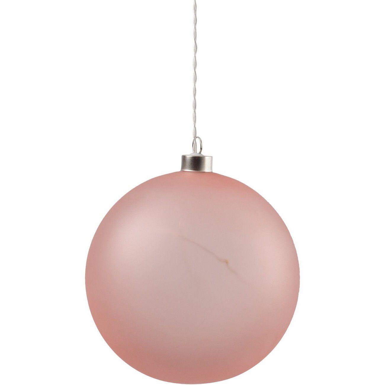 LED Matt Pink Glass Ball - Xmas-20 thumbnail
