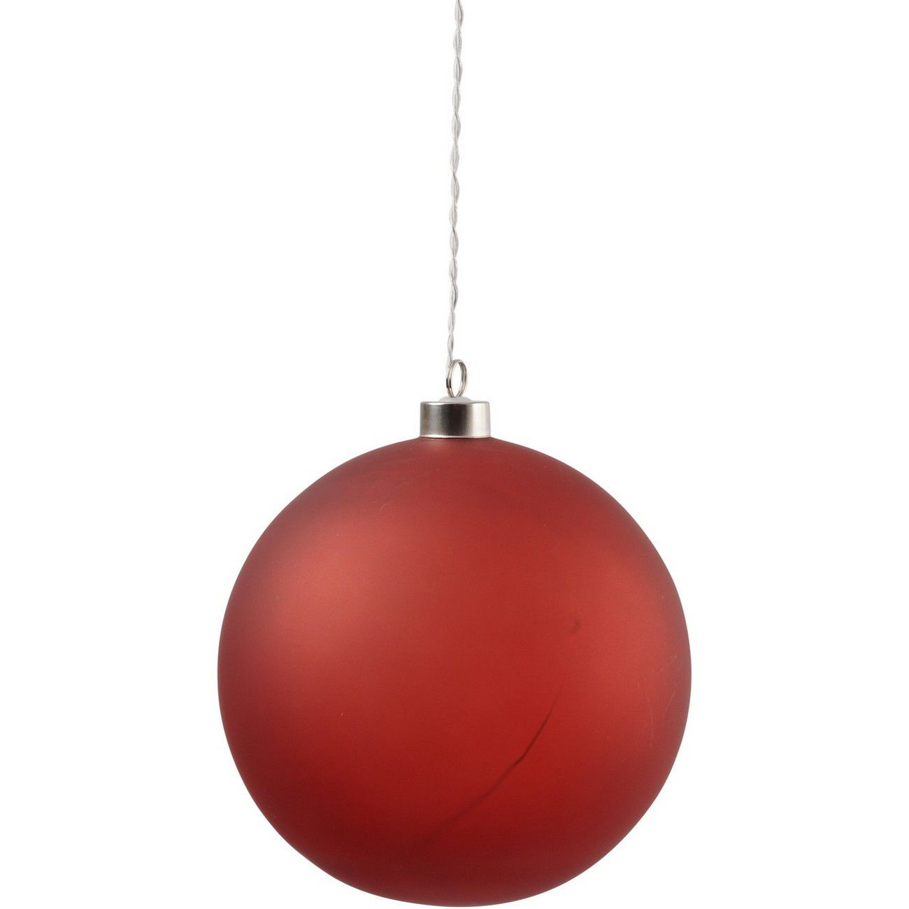LED Matt Red Glass Ball - Xmas-20 thumbnail