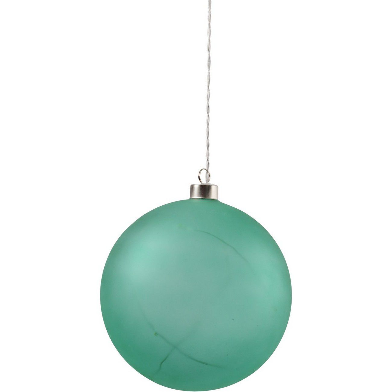 LED Matt Green Glass Ball - Xmas-20 thumbnail