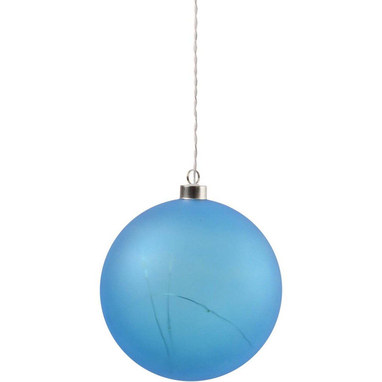 LED Matt Blue Glass Ball - Xmas-20 thumbnail