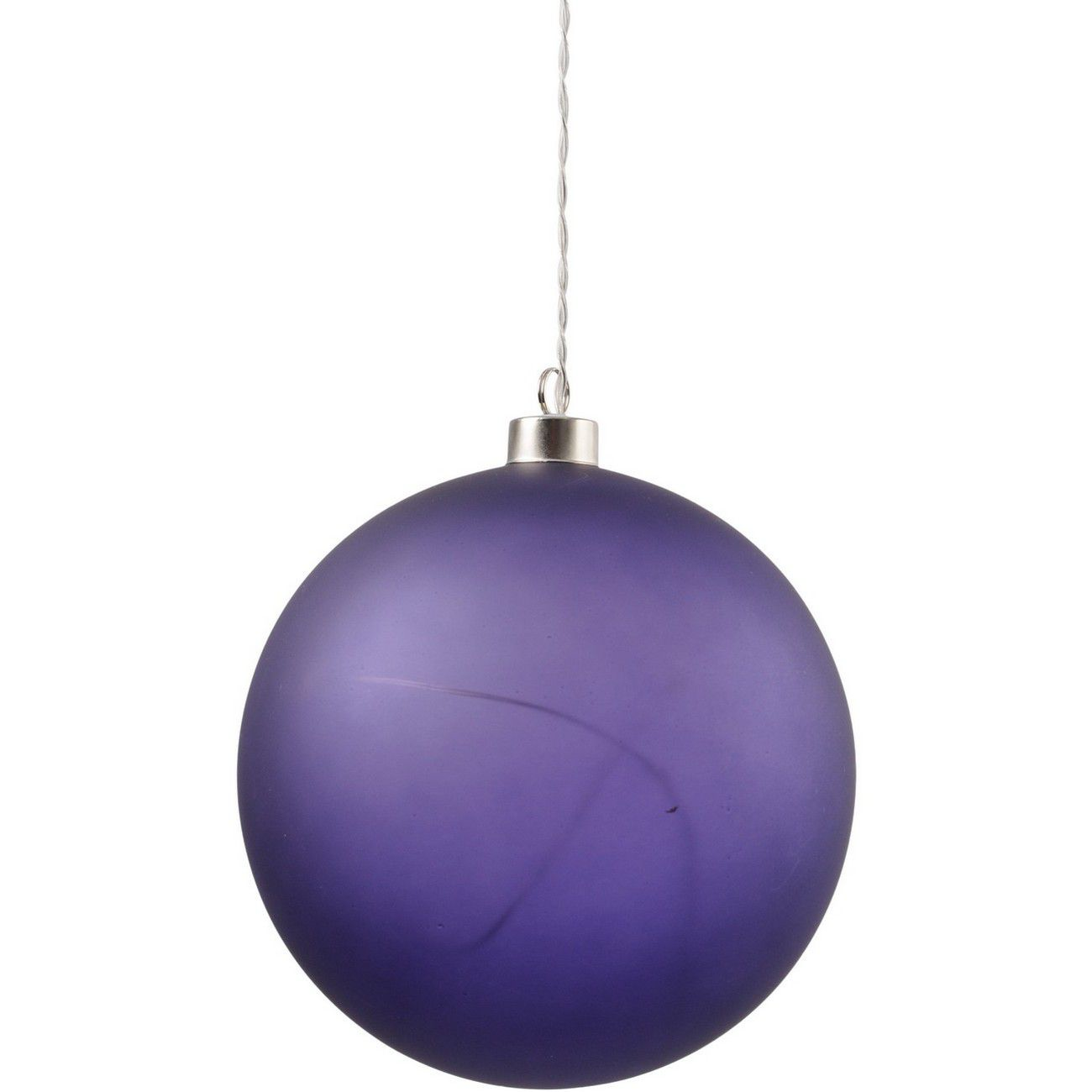 LED Matt Purple Glass Ball - Xmas-20 thumbnail