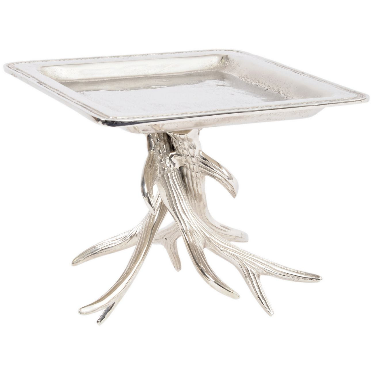 Textured Silver Antler Tray Stand - Xmas thumbnail