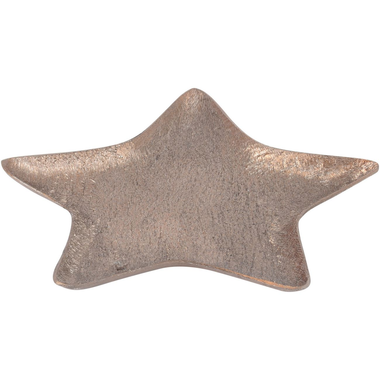 Brushed Copper Aluminium Small Star Platter - Xmas-19 thumbnail