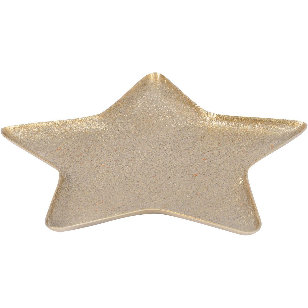 Brushed Gold Aluminium Medium Star Platter - Xmas-19 thumbnail