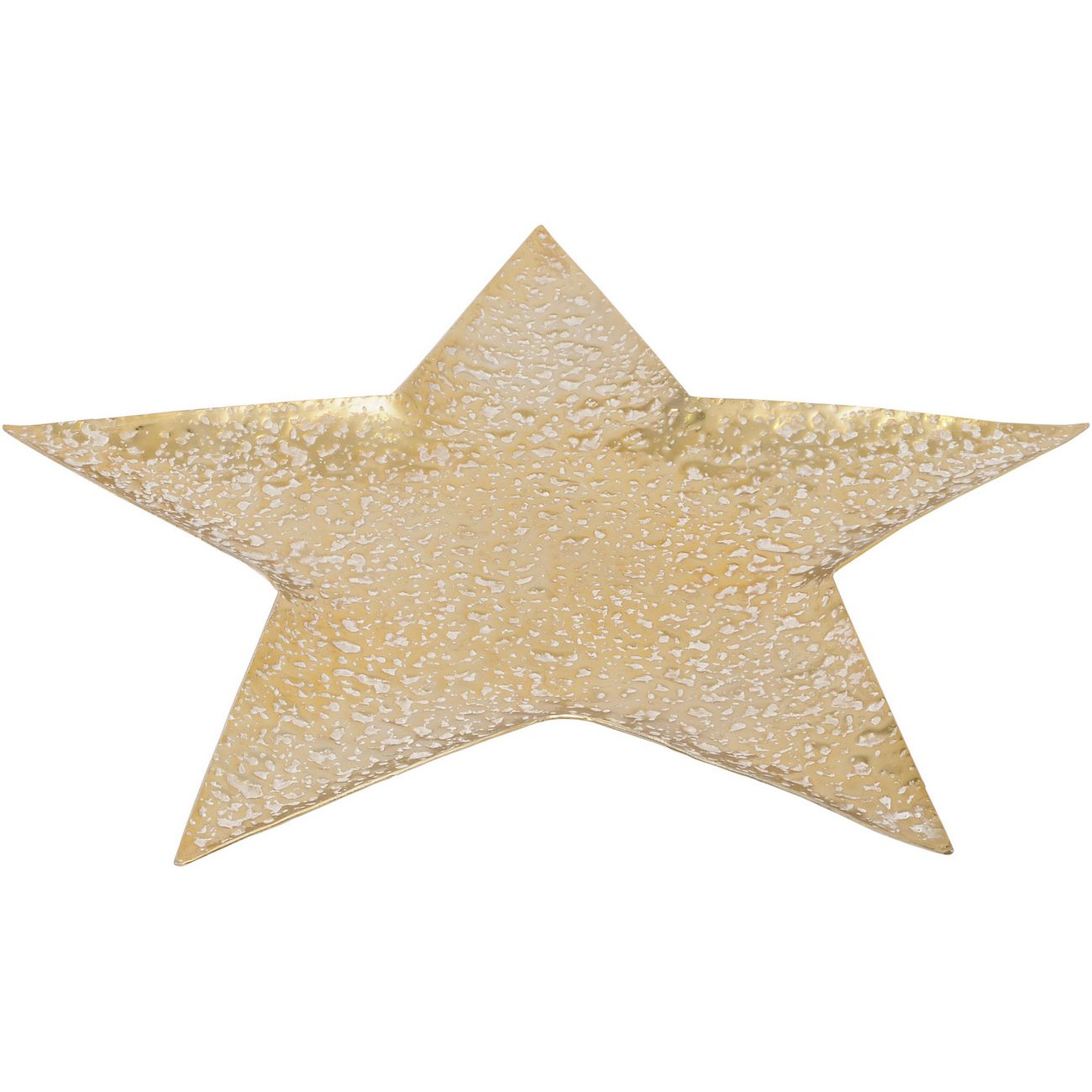 Mottled Gold Aluminium Small Star Platter - Xmas thumbnail