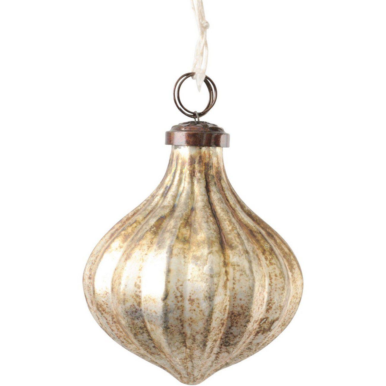 Antique Silver Pod Large Ornament thumbnail