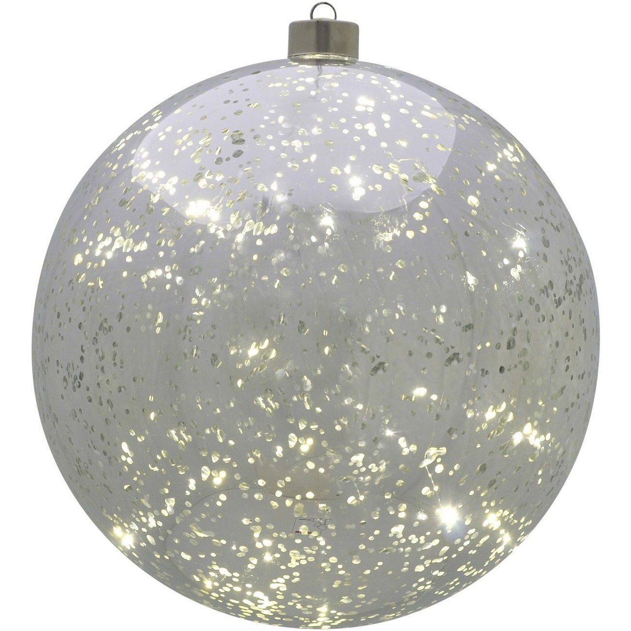 LED Large Silver Hanging Ball - Xmas-20 thumbnail