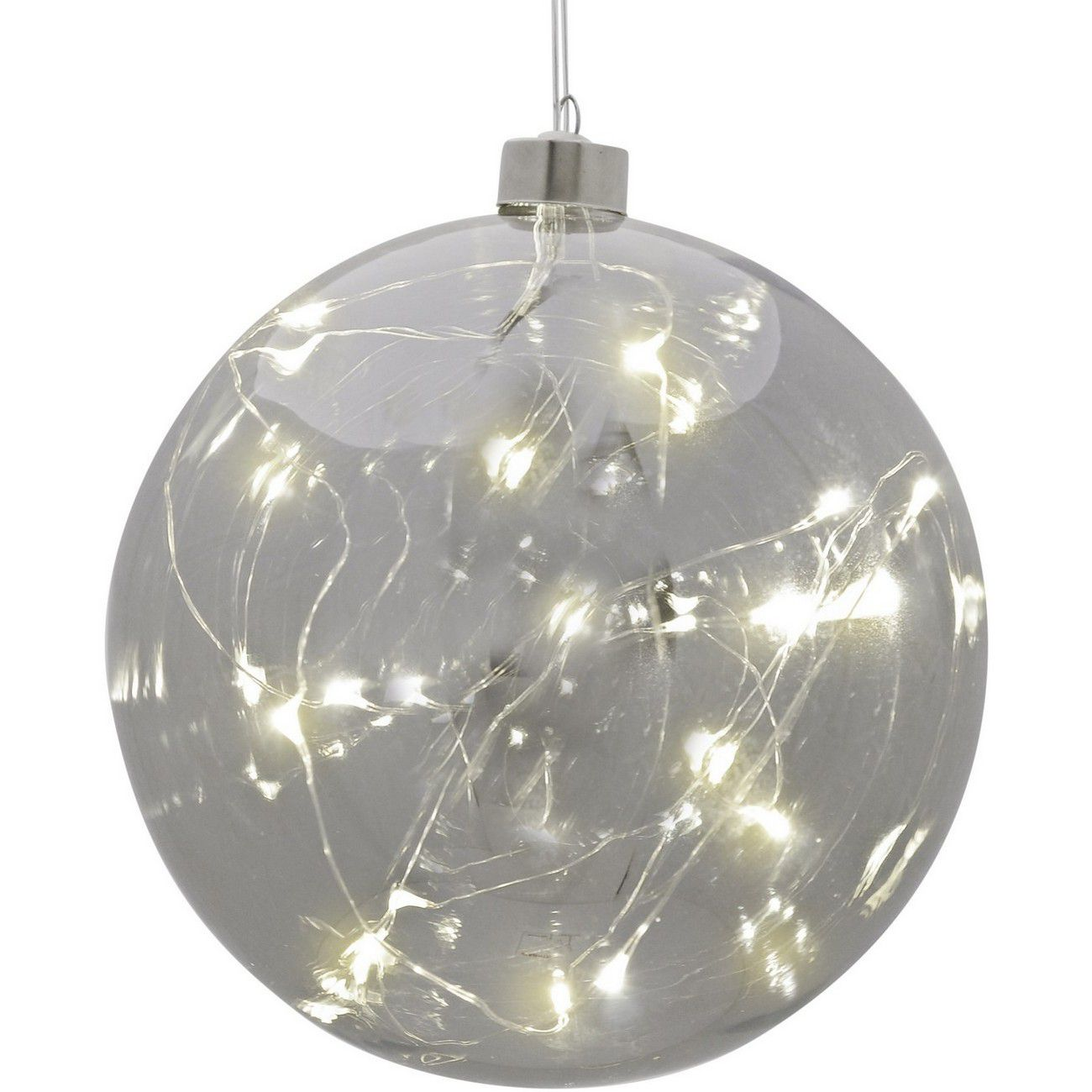 LED Small Smoke Grey Hanging Ball - Xmas-20 thumbnail