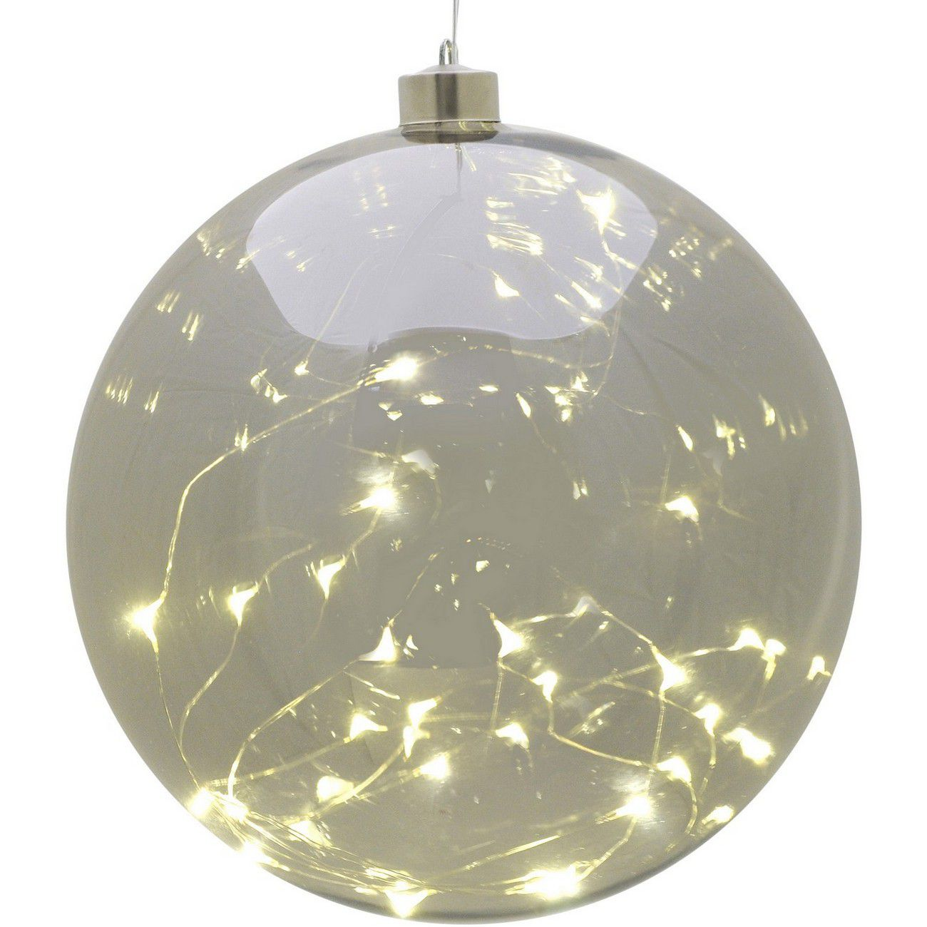 LED Large Smoke Grey Hanging Ball - Xmas-20 thumbnail