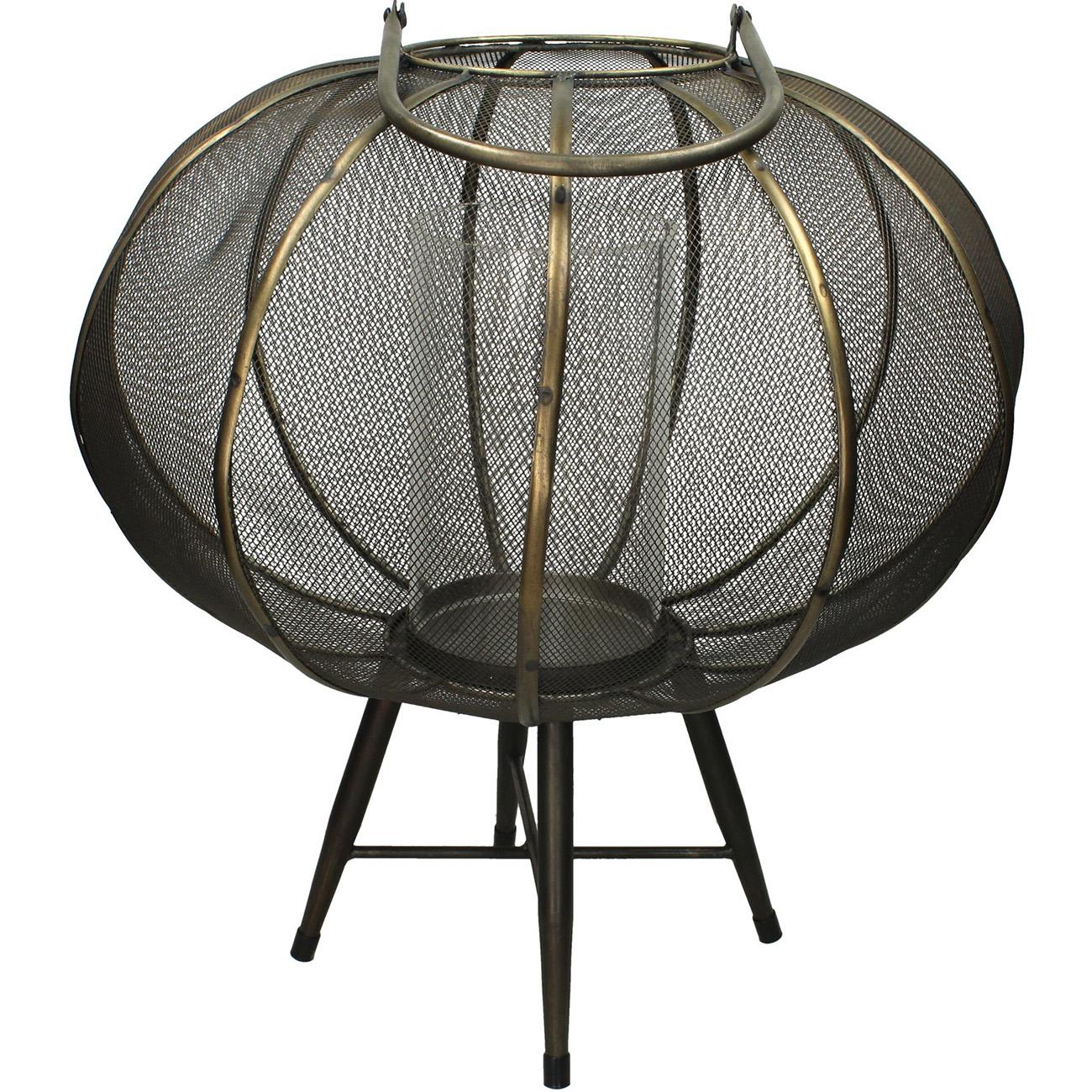 Black Spherical Lantern 45cm - Xmas-20 thumbnail