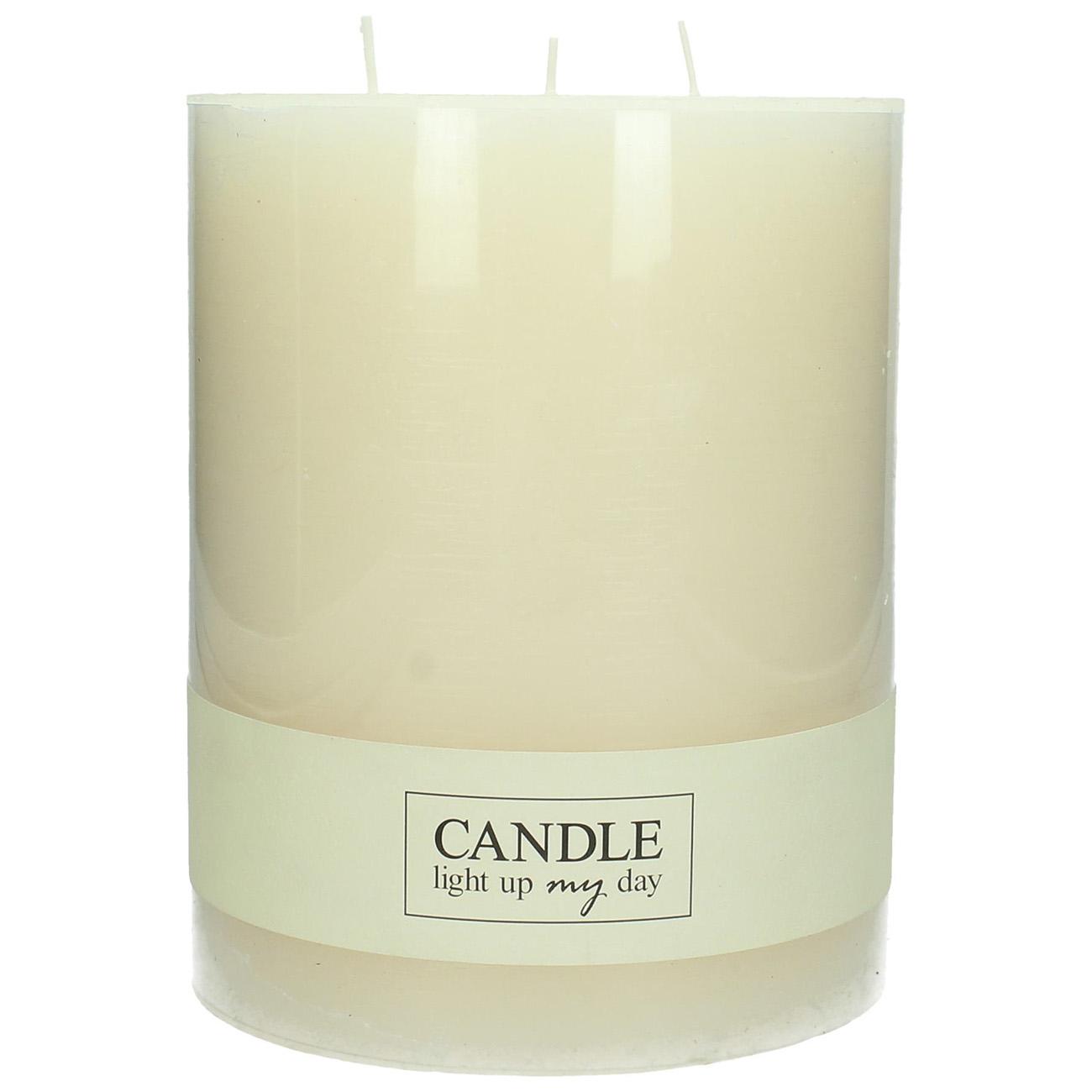 Large Ivory Candle 16x20cm - Xmas-20 thumbnail