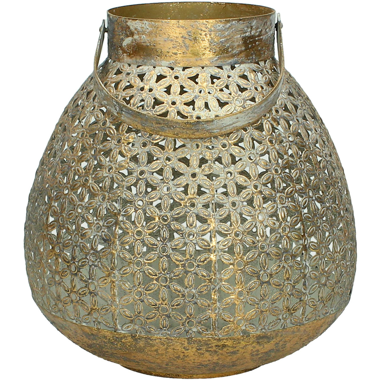 Cut Out Gold Metal Lantern Large - Xmas-20 thumbnail