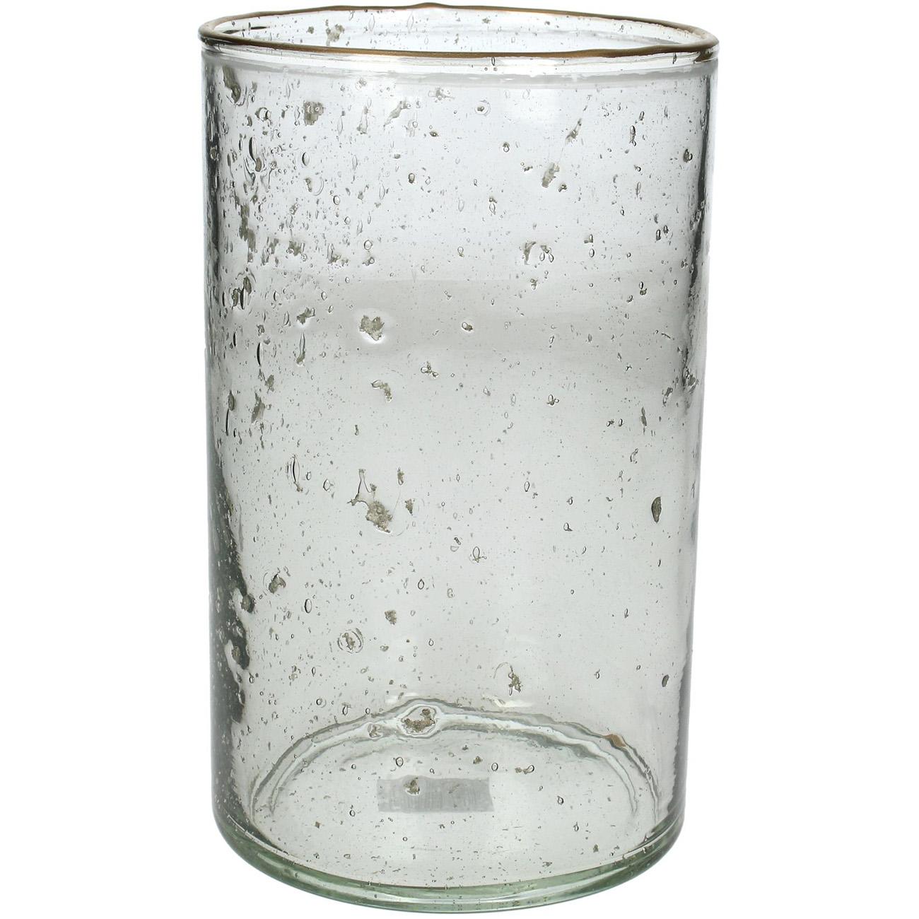 Clear Glass Hurricane 20cm - Xmas-20 thumbnail