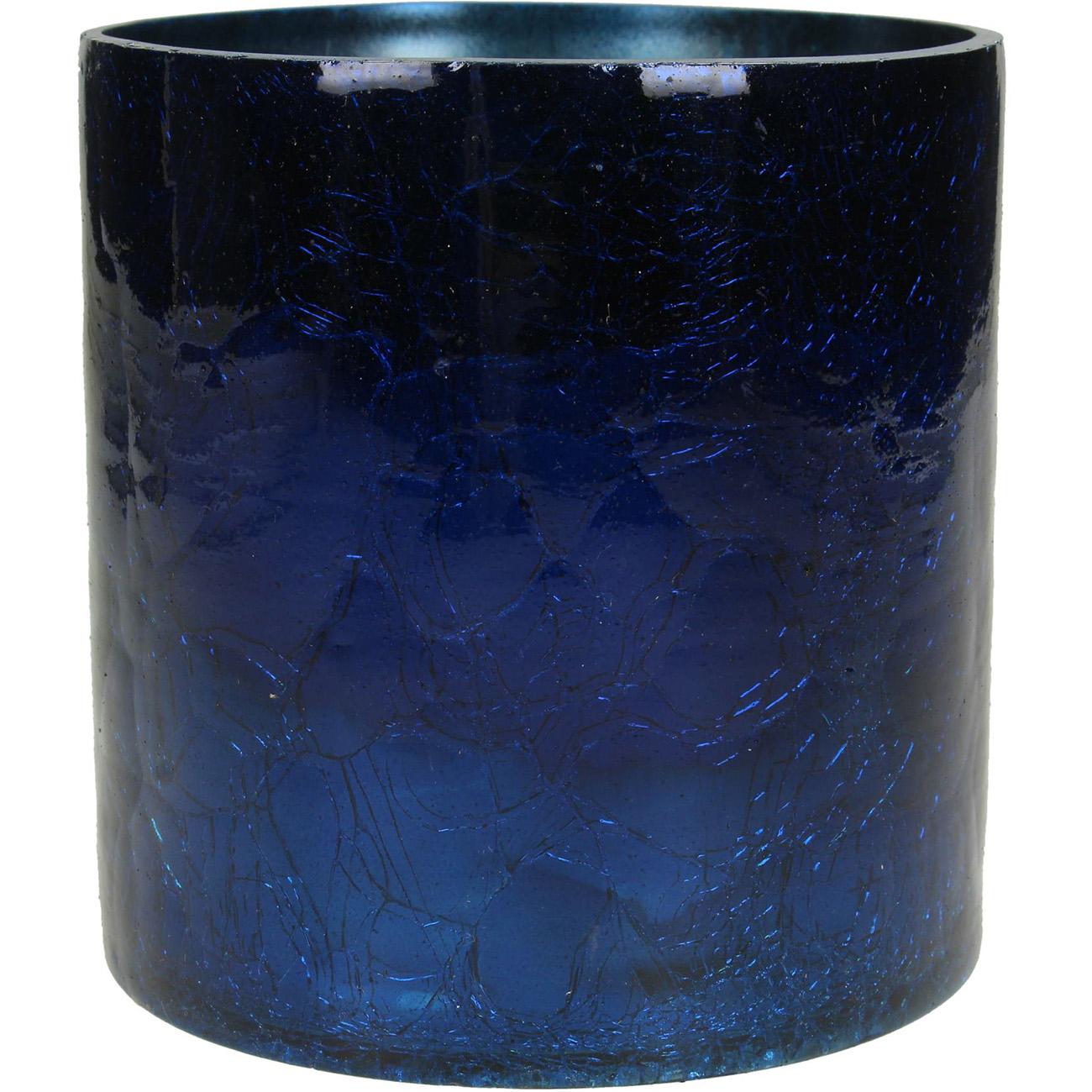 Irridescent Blue Votive Holder 12cm - Xmas-20 thumbnail