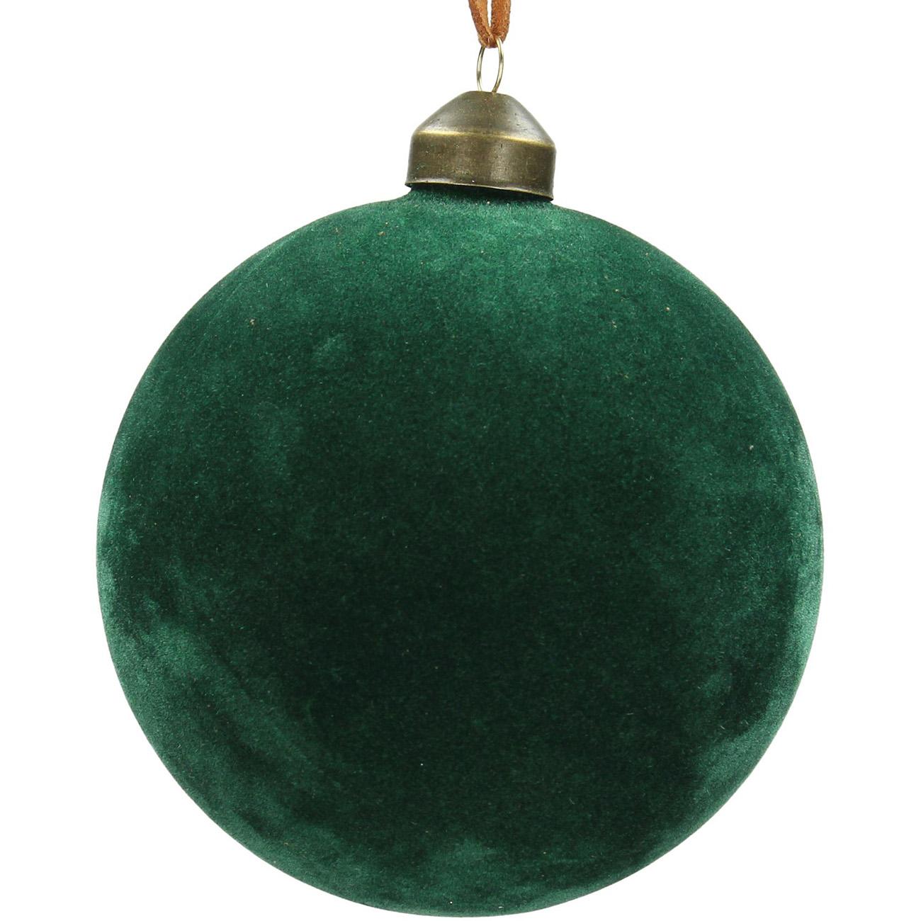 Green Velvet Bauble 10cm - Xmas-20 thumbnail